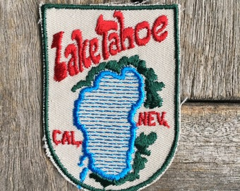 Lake Tahoe California/Nevada Vintage Travel Souvenir Patch by Voyager - New in Original Package