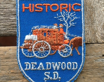 ONLY ONE! Historic Deadwood South Dakota Vintage Souvenir Travel Patch from Voyager