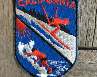 LAST ONE! California Ski & Surf Vintage Travel Souvenir Patch by Voyager