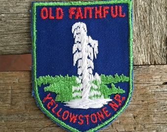 Yellowstone National Park Vintage Souvenir Travel Patch from Voyager - New In Original Package
