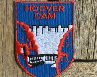 Hoover Dam Vintage Souvenir Travel Patch from Voyager