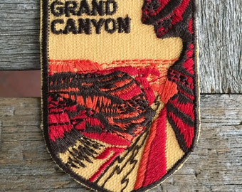 Grand Canyon Vintage Souvenir Travel Patch from Voyager