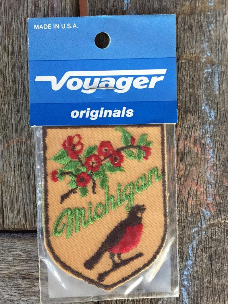 Michigan Vintage Souvenir Travel Patch by Voyager