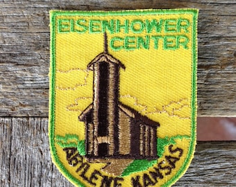 Eisenhower Center Abilene Kansas Vintage Travel Souvenir Patch from Voyager - LAST ONE!