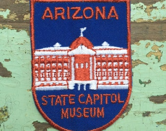 Arizona State Capitol Museum Vintage Souvenir Travel Patch from Voyager