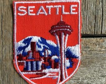 Seattle, Washington Vintage Souvenir Travel Patch from Voyager