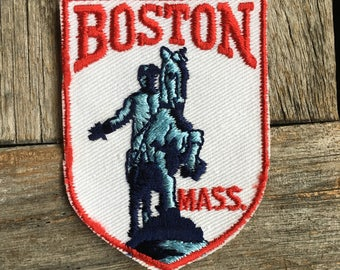 LAST ONE! Boston Massachusetts Vintage Souvenir Travel Patch from Voyager