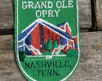 Grand Ole Opry Nashville Tennessee Vintage Souvenir Travel Patch from Voyager - New In Original Package