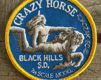 Crazy Horse Black Hills, South Dakota Vintage Souvenir Travel Patch from Voyager