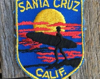 Santa Cruz, California Vintage Travel Souvenir Patch by Voyager