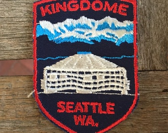 Kingdome Seattle, Washington Vintage Souvenir Travel Patch from Voyager - LAST ONE!