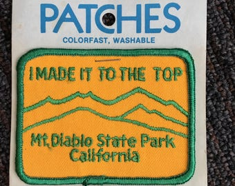 Mount Diablo State Park California Vintage Souvenir Travel Patch from Holm Patches
