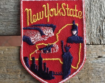 New York State Vintage Souvenir Travel Patch from Voyager