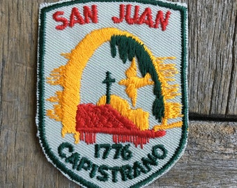 San Juan Capistrano Mission 1776 Vintage Souvenir Travel Patch from Voyager
