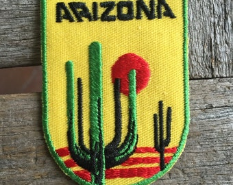 Arizona Vintage Souvenir Travel Patch from Voyager