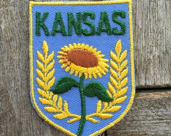 Kansas Vintage Souvenir Travel Patch from Voyager - New In Original Package