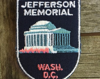 Jefferson Memorial Washington DC Vintage Souvenir Travel Patch from Voyager