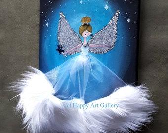 Dark Angel Black angel art black angel wings golden angel art golden angel wings kids room decor girl birthday gift angel statue angel art