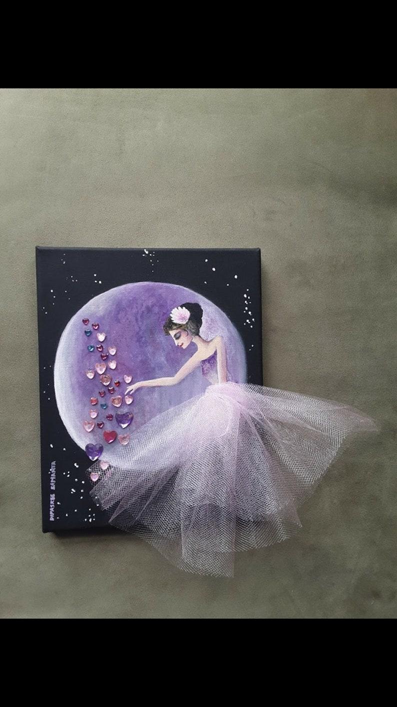 Spreading Love Princess decor Fairy nursery art girls gift idea princess wall decor purple princess purple fairy decor fairytale love decor