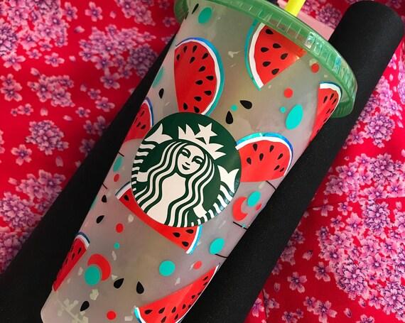 Personalised Watermelon 24oz Starbucks Confetti Cold Cup Venti Summer 2021 USA America