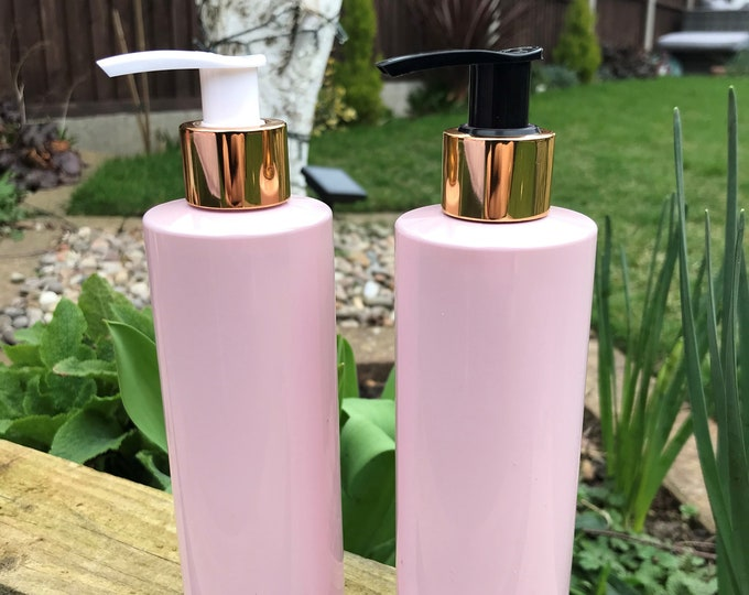 Pump bottles with Gold Pumps - 2 colour options. - Available on any of the bottles we stock :)
