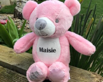 First Born 'My First Ted' Teddy Bear -Blue and Pink options