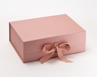 BULK OFFER - 12 for the price of 11 - A4 Deep Gift Boxes with grosgrain ribbon - 33cm x 25cm x 11cm