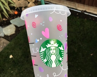 Decorated Starbucks Cold Cup -24oz