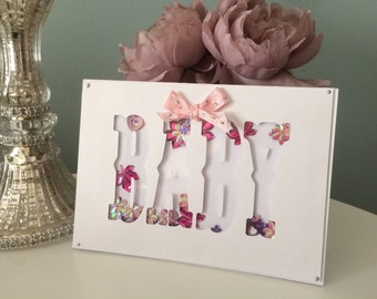 Handmade Baby Shaker card - available in Pink, Blue or Yellow