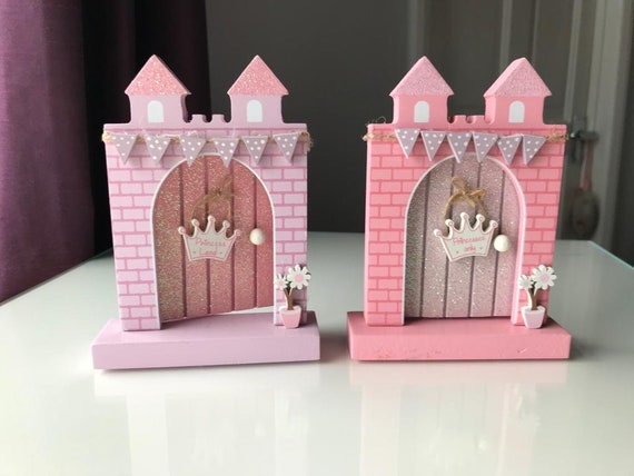 Fairy Princess Door with glitter and 3D embellishments - Perfect for Personalisation