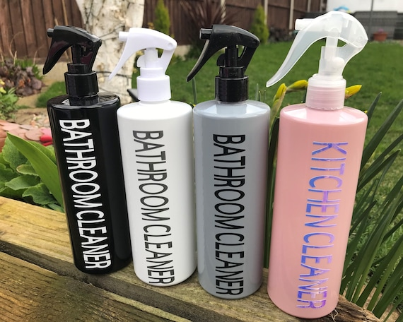 Beautifully decorated 500ml Spray bottles to match our pump bottles! Available in 4 colour options!