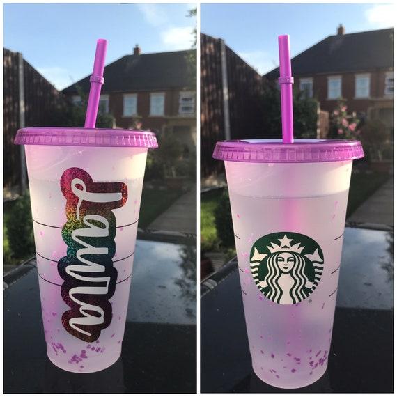 Personalised 24oz Starbucks Confetti Swirl Cold Cup Venti Summer 2021 USA America