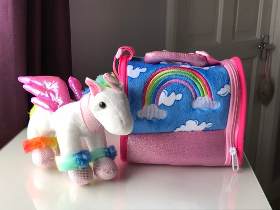 Personalised Rainbow Unicorn and Carrier