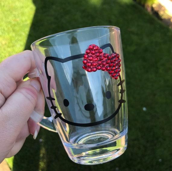 HELLO KITTY MUGS | Glass Mugs | Personalised Mugs| Hello Kitty Mug | Custom Mugs