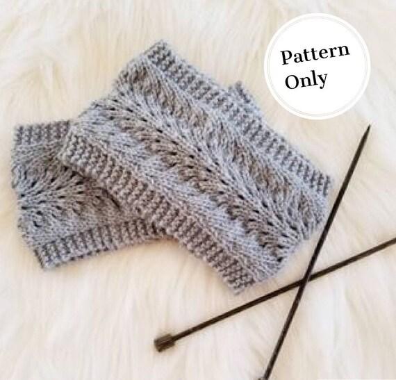 Knitting Pattern Ear Wamer Ear Warmer Pattern Knit Etsy