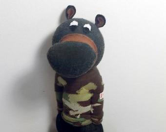 Black Bear Sock Animal
