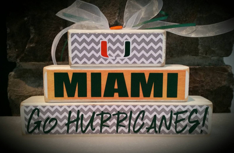 Custom College And Pro Sports Team Miami Hurricanes Fan Etsy