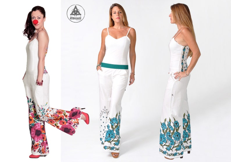 b1003ae1cac1 Palazzo Jumpsuit bell bottom flares Jumpsuit Boho Hippie