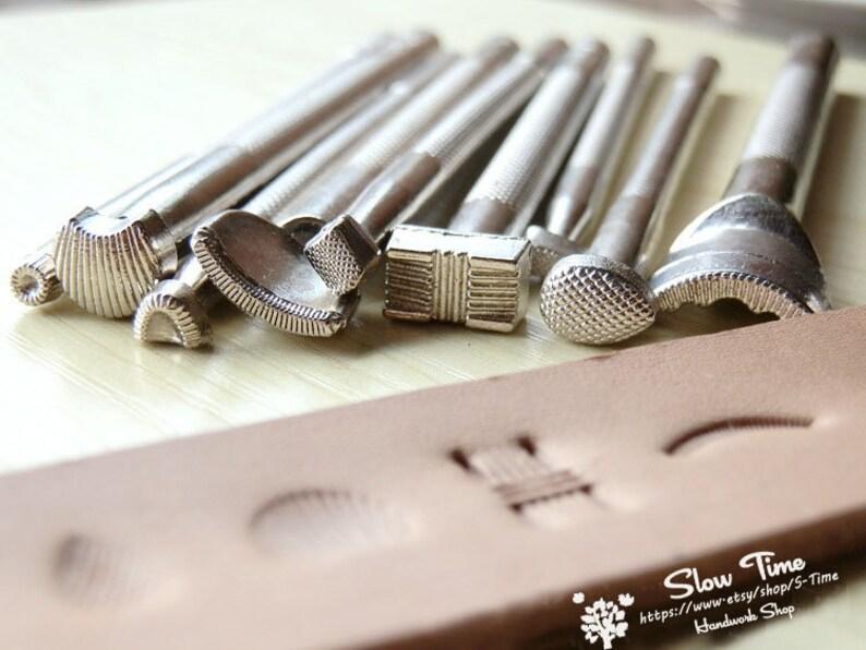 9 Patterns DIY Leather Craft Tools Stamps Set