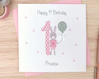 Personalised First Birthday Card