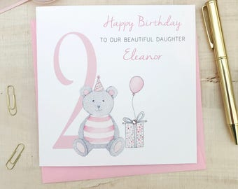 Personalised Girls Birthday Card