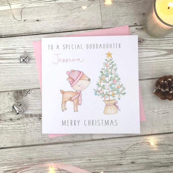 Personnalisé Carte de Noël-Neveu//petit-fils-Grande Petite-Fille//Nièce