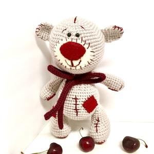 Crochet bear Amigurumi bear Lazybones Doll Kids Boys Girls Baby shower Gift idea Interior decorations Home decor Brown bear Cute bear doll