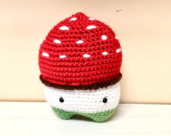Crochet mushroom kids baby shower girls boys gift ideas toys home decor kitchen decor amigurumi