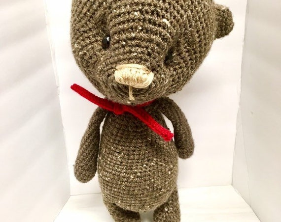 Crochet amigurumi Teddy bear home decor gift ideas baby shower kids girls boys nursery decor cute soft Teddy bear  unique handmade toy