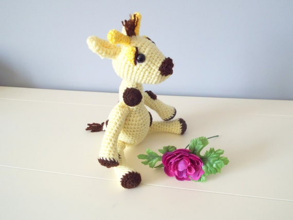 Handmade crochet Giraffe toy Dolls Kids and baby Crochet animals Amigurumi giraffe Handmade toys Home decor Toddler Gift ideas Crochet gifts