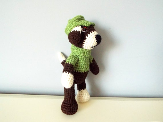 Handmade crochet puppy dog Amigurumi dog Home decor Gift ideas Kids Baby shower Soft puppy Domestic animals Boys Girls Knitted toys Dolls