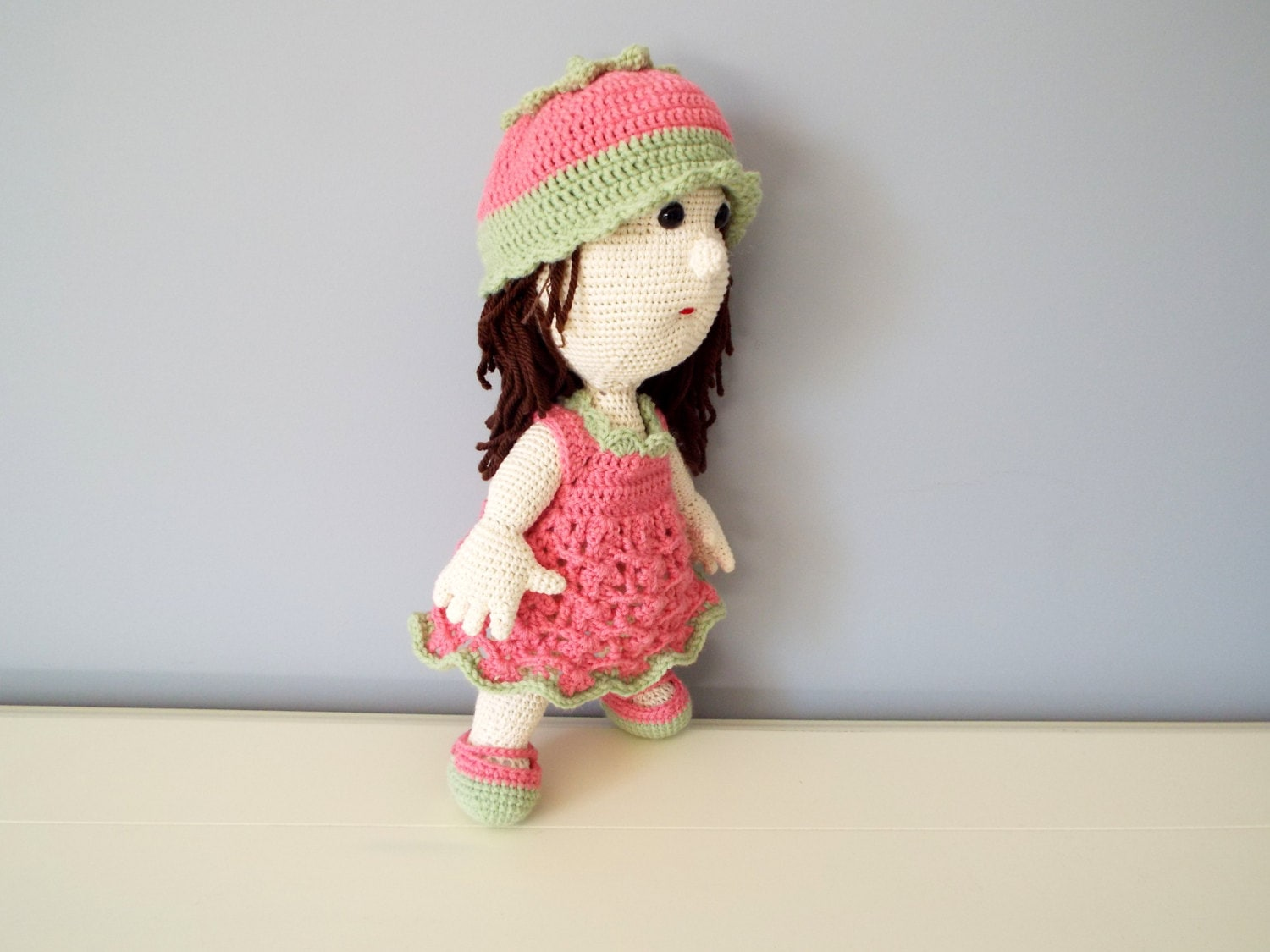 Amigurumi Girl With Umbrella - PDF Pattern | 1125x1500