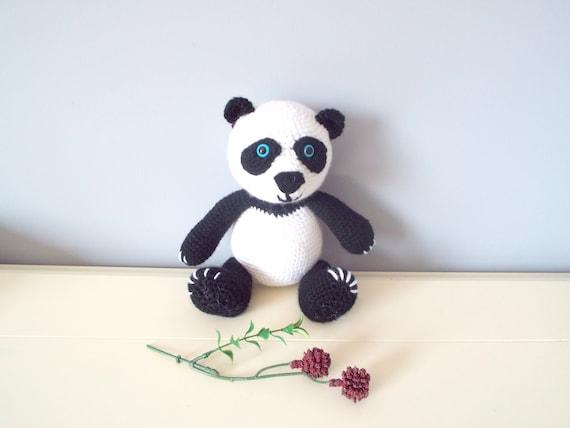 Handmade crochet Panda bear doll Kids Amigurumi Handmade doll Crochet animals Handmade gifts Crochet toys Boys Girls Decor Panda teddy bear