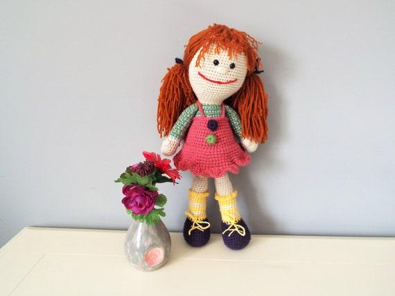 Crochet doll Amigurumi Home decor Girls Baby shower gift ideas Soft doll Stuffed dolls Knitted dolls Girls gifts Pink dressed doll Gifts